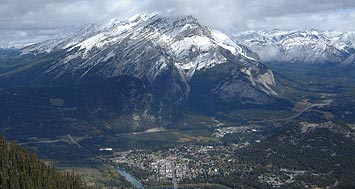 View from the Banff Gondola, 25 minute drive from Canmore